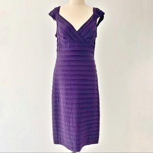 Mr K Size 14 Ladies Purple Cap Sleeve Dress Lined